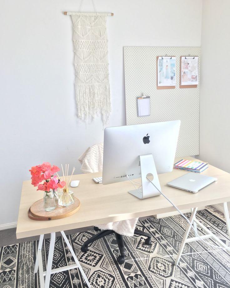 My Home Office & Workspace. Beautiful, Feminine & Light