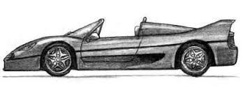 Resultado de imagen para dibujos a lapiz de autos ferrari