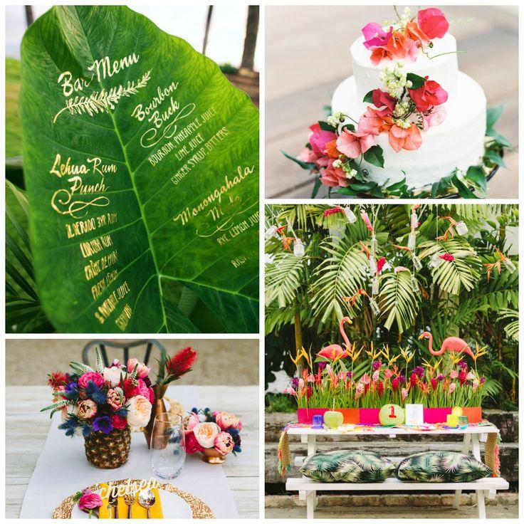 Idées sur le thème décoration tropical de mariage