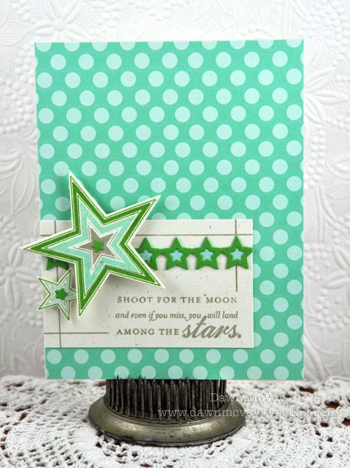 Shoot For The Moon Card by Dawn McVey for Papertrey Ink (March 2012)