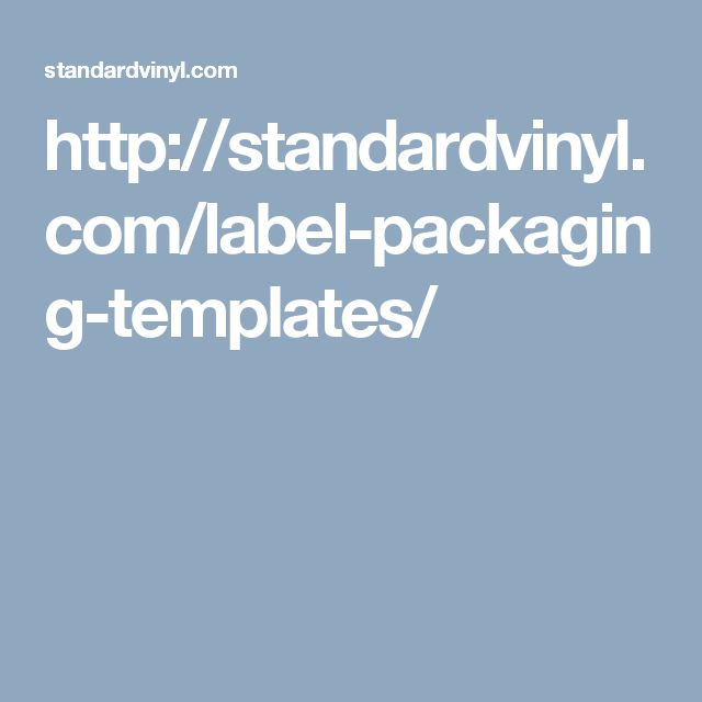 Vinyl Record Packaging Templates And Label By Standard