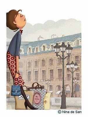 Nina de San  Agotador día de compras.....us after our holiday shopping!!!!......:-)
