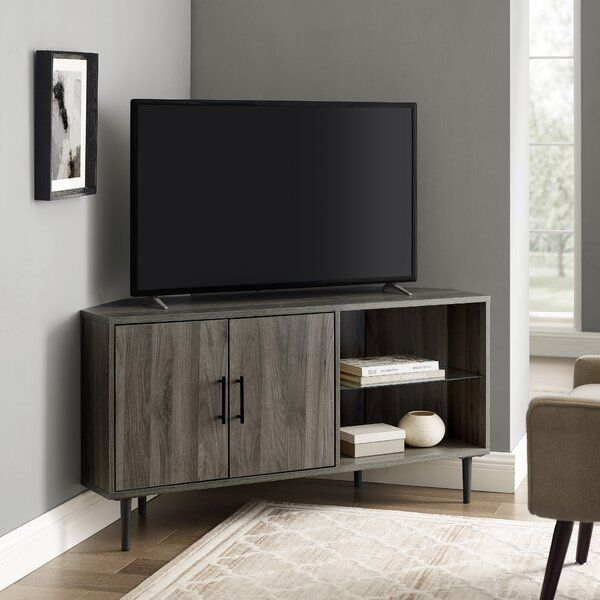 Olney Corner Tv Stand For Tvs Up To 55 In 2020 Corner Tv