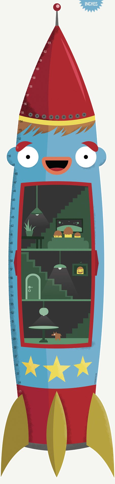 17 best growth charts images on pinterest growth charts height rocket kids room decoration growth chart for boys by mikimottes nvjuhfo Gallery