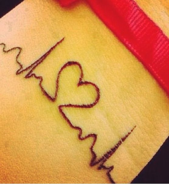 Amazing Tattoos Heart Beat With Dates: Heartbeat Faith Tattoo Designs Awesome Heart Beat Pictures