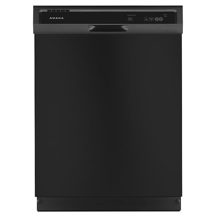 """Amana - ADB1300AFB - 24"""" Built-In Dishwasher w/ Triple Filter Wash System - Black 