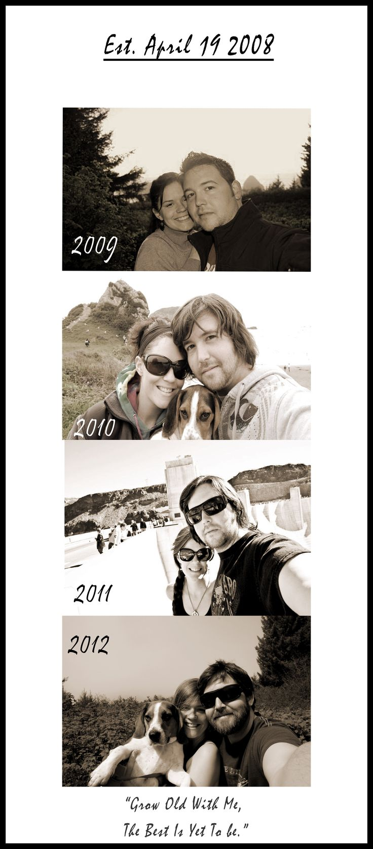 """I just so happen to have a picture for every anniversary and the first """"official"""" day."""