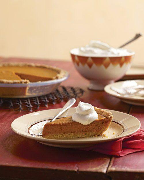 Pumpkin Pie with Press-In Shortbread Pie Crust