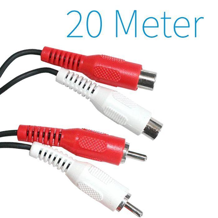 Tulp Verleng #Kabel 20 Meter  20 m Tulp verlengkabel 2x Stekker naar 2x koppeling  tulp-verlengkabel  Lengte: 20 m  2 Stekkers (male) naar 2 Koppelingen (female)  ideaal voor het #aansluiten op Stereo, Versterker, DVD- Player, Ontvanger en veel meer...  http://www.yagoda.nl/tulp-verleng-kabel-20-meter.html  #technology #electronics #kopen #verlengkabel