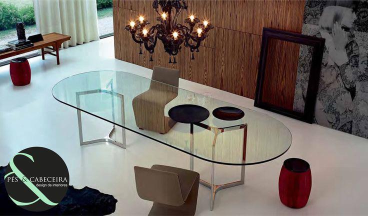 Mesa de Jantar Tampo de Vidro #mesadejantar www.pesecabeceira.pt