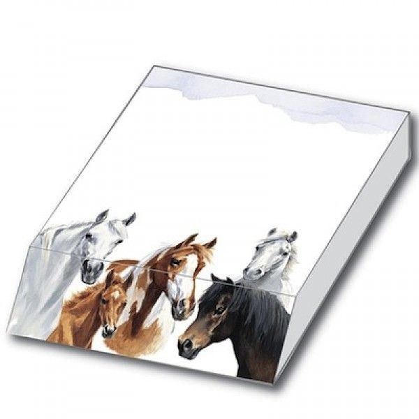 Horses by Caroline Slant Pad - Stationery