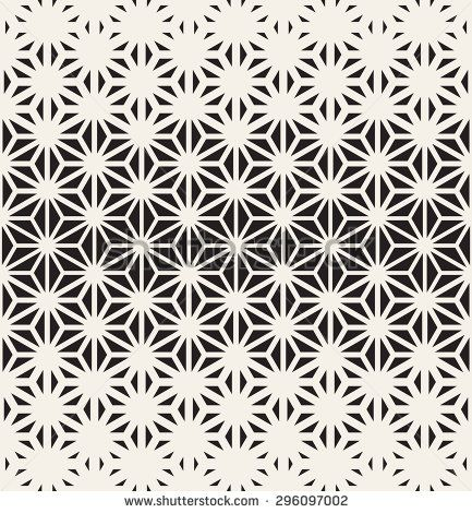 Vector seamless pattern. Modern stylish texture. Repeating geometric tiles from triangles. Monochrome grid with thickness which changes towards the center.