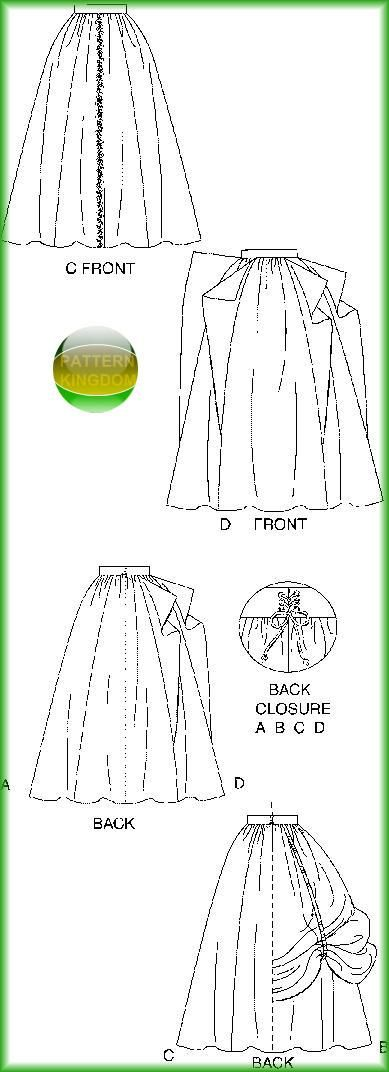 McCalls 4090 Medieval/Renaissance Skirt/Dress Patterns