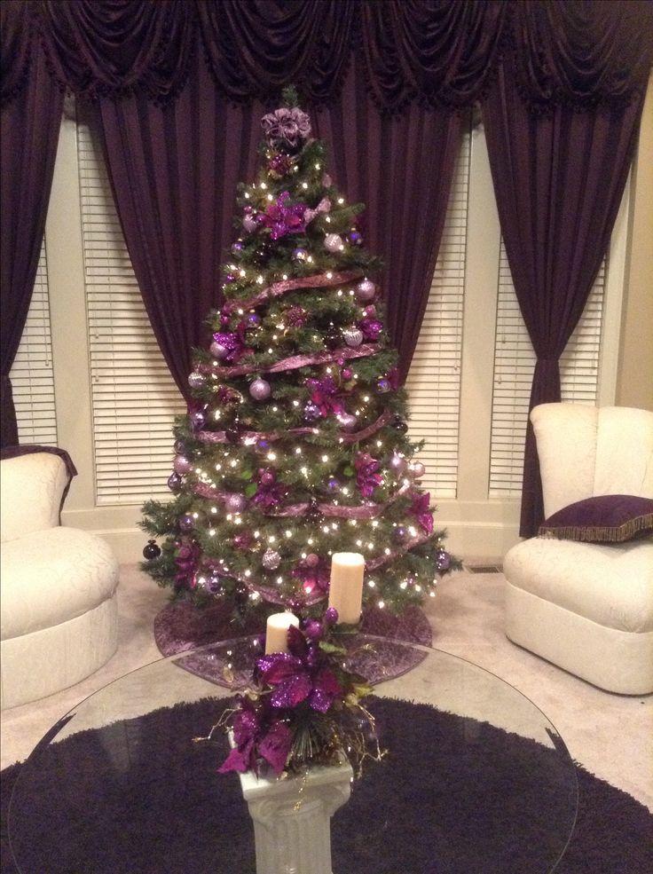 Purple Christmas tree!