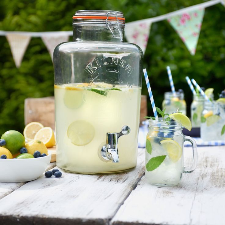 I would love one of these at home for barbecues and summer parties - Kilner Clip Top Drinks Dispenser from Heal's.