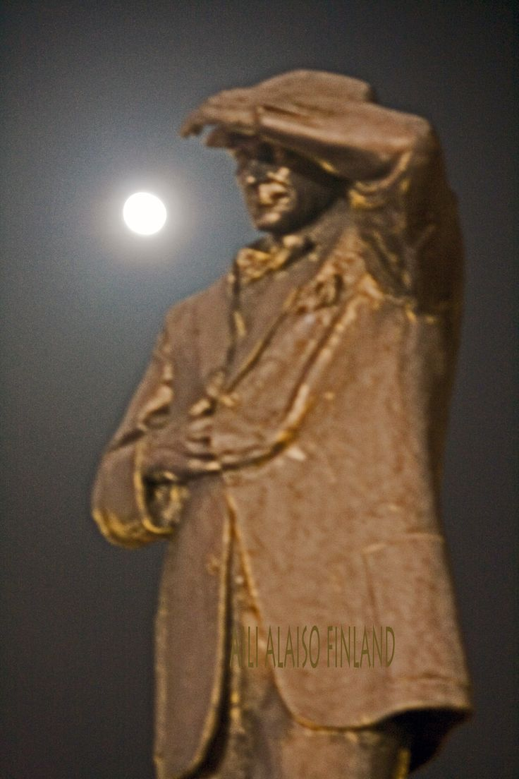 Mustafa Kemal Atatürk statue in the moonlight , Icmeler Tyrkiye Photo Aili Alaiso Finland