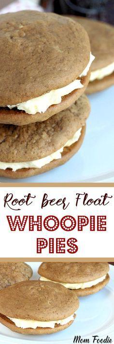 Root Beer Float Whoopie Pies