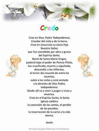Image Result For El Credo Catolico Oracion Black Hair