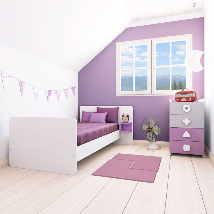 10 best purple children 39 s rooms images on pinterest for Habitaciones ninos modernas