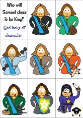 Who will Samuel choose to be King printable
