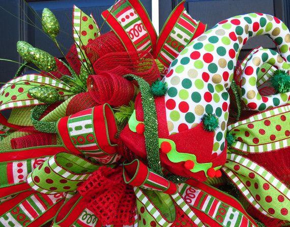 Guirnalda de puerta la Navidad Deco malla corona  guirnalda