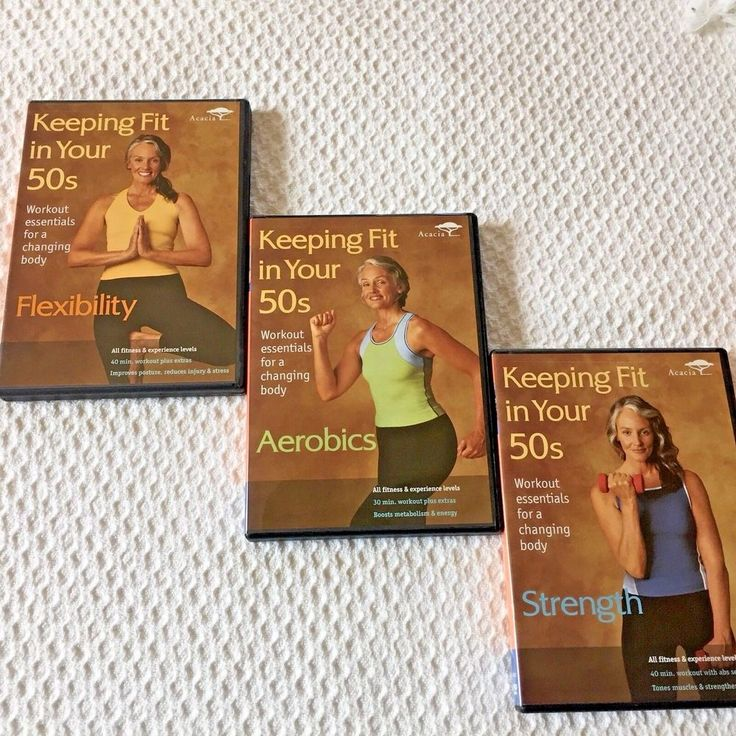 Keeping Fit in Your 50s Workout 3 DVD Set Strength Aerobics Flexibility Health