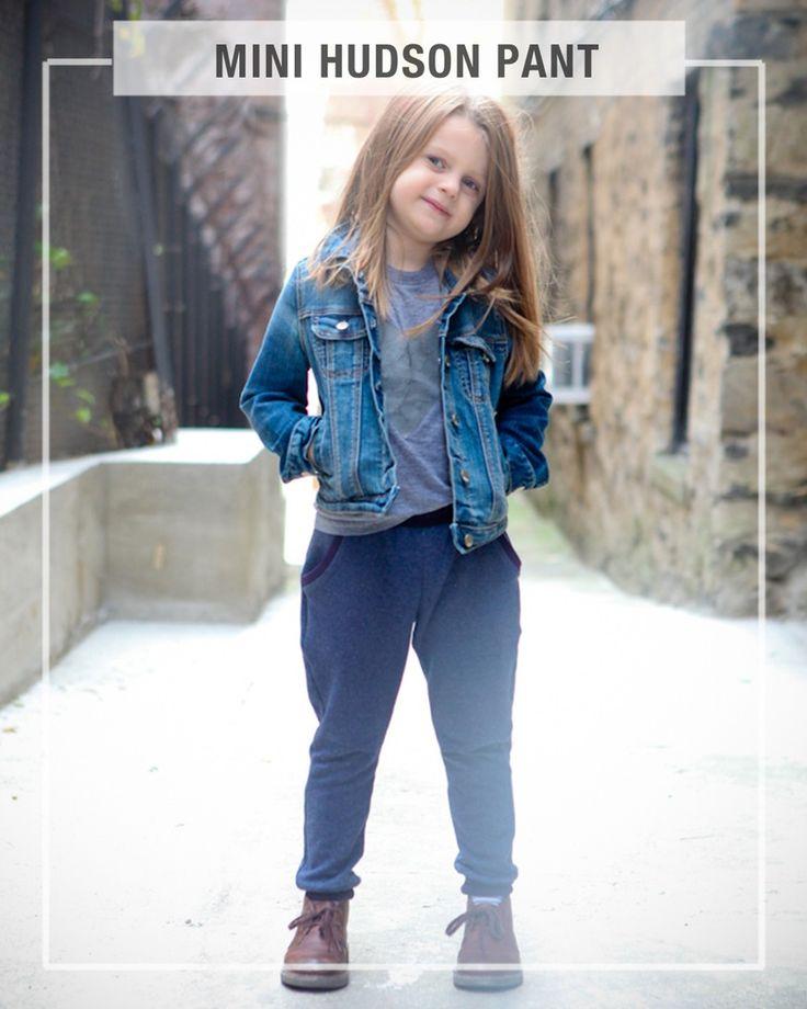 MINI HUDSON PANT- fitted, cuffed sweatpants pattern