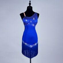 zvyk Vestido sexy latin tanečné šaty predaj ženy Royal blue strapec latin šaty Latinskej tanečné kostýmy pre ženy / dievčatá (Čína (pevninská časť))