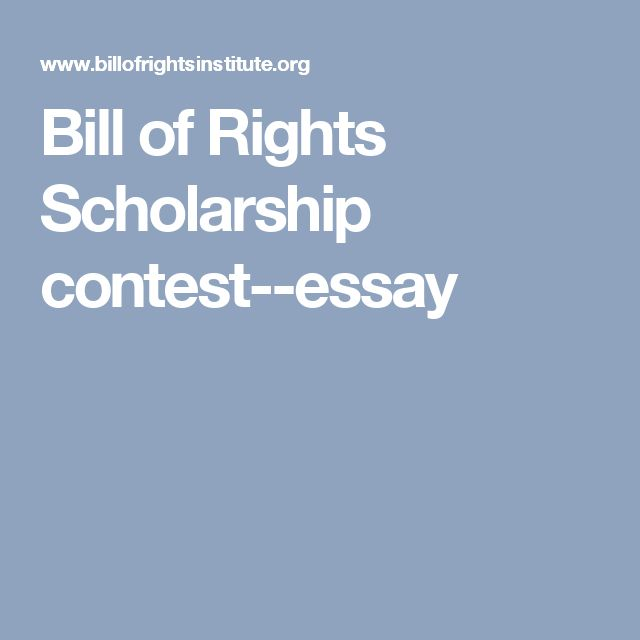 bill of rights institute essay contest From the economy to foreign policy, this election is all about the issues think the vote is the place go be to learn more about these issues, the candidates, and more.