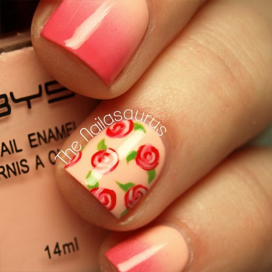 Rose Nail Art Tutorial: 1000+ Ideas About Rose Nails On Pinterest