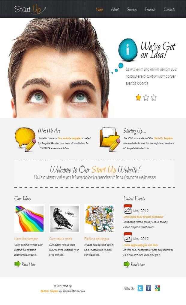 Pinterestu0027teki 25u0027den fazla en iyi Free website templates fikri - business newsletter templates free