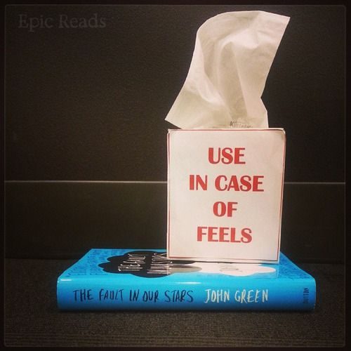 The tissues are happening when the movie is released!!