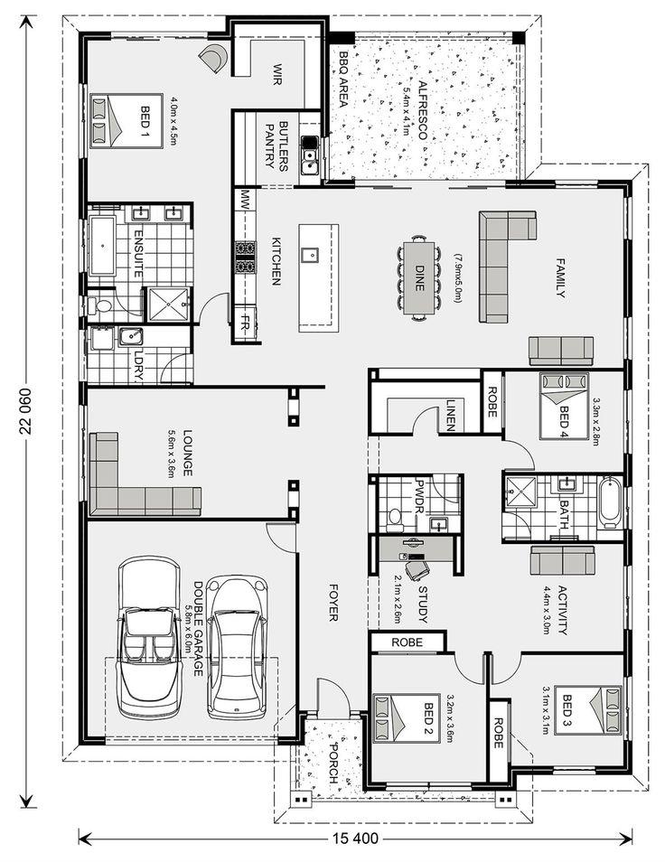 747 best Plans maison images on Pinterest Floor plans, House - plan maison 170 m2 plain pied