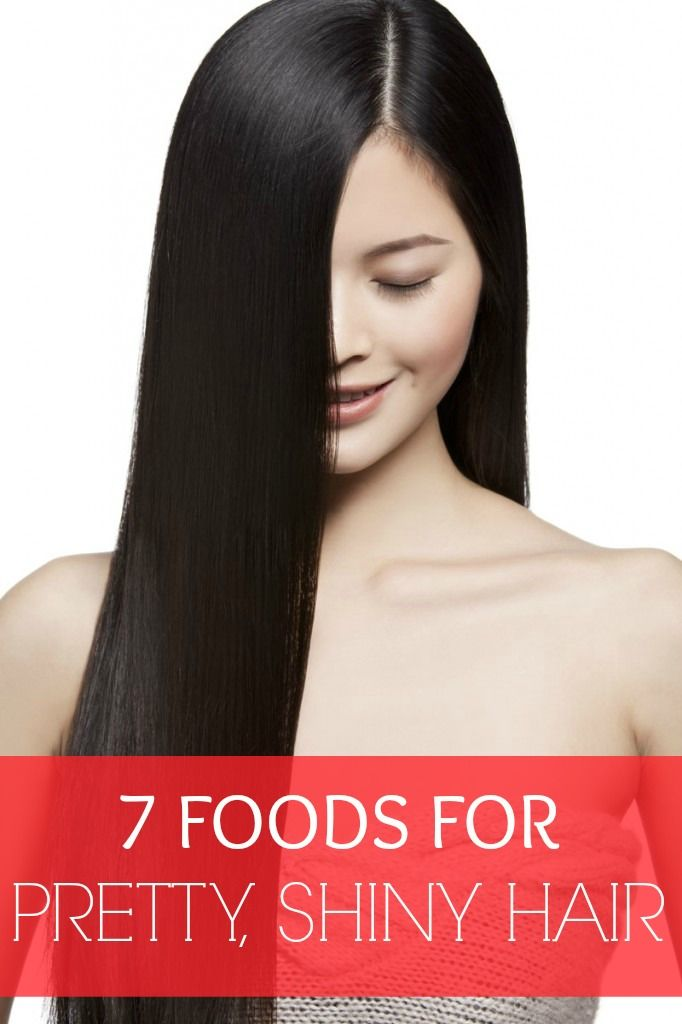 7 Foods for pretty shiny hair.