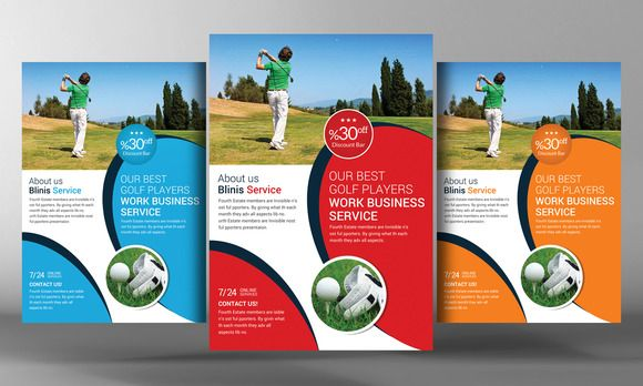Check out Golf Club Flyer Template by Corporate Flyers Postcard on Creative Market