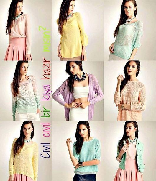 Uçuk pembeler, açık yeşiller, tatlı sarılar ve daha bir çok şeker renk ile gardırobunuzu dondurma renklerine boyayın!  #markafoni #dilvin #moda #pembe #yesil #sari #fashion #sweet #style #trend #look #streetstyle #winterfashion #pink