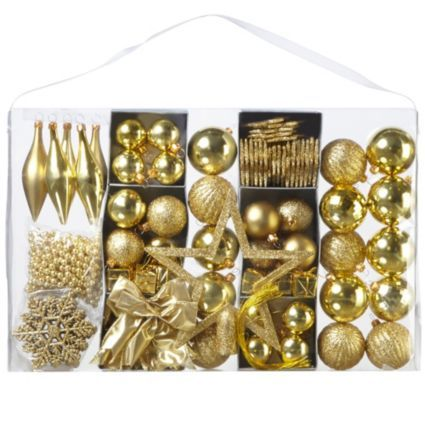 This Gold Effect Metallic Assorted Tree Decorations pack will take all the hassel out of choosing your decorations! #Decor #Christmas