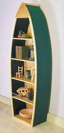 Boat Bookshelf Plans Inspired By The Photograph Of The Old Canoe Bookcase  Below Cut The Two Shelf Hall Finding The Right Pieces Of Other