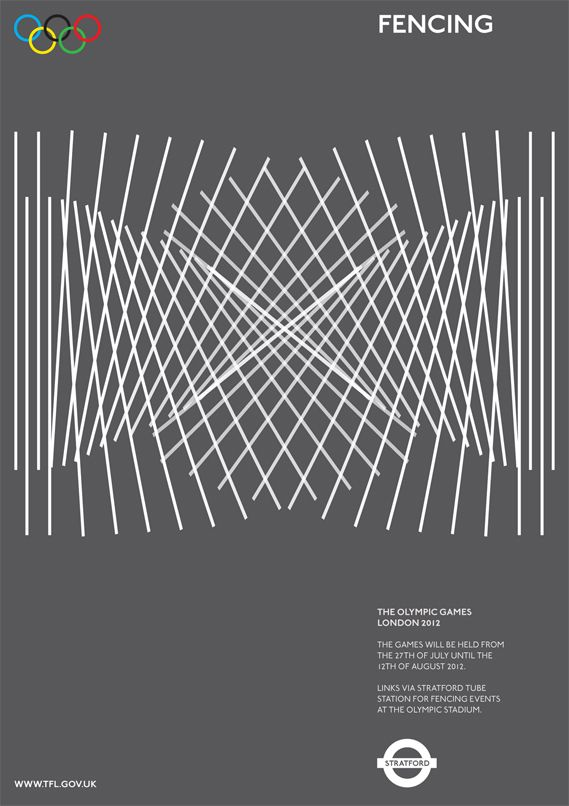 Olympics 2012, five unofficial awesome posters by Alan Clarke: Fencing. http://www.alanclarkegraphics.com/