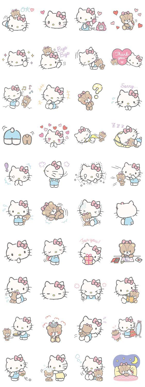 画像 - Hello Kitty (with Tiny Chum) by Sanrio - Line.me