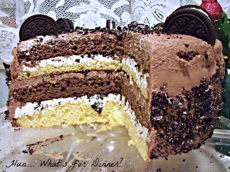 Hun... What's for Dinner?: Vanilla & Chocolate Oreo Cake- Happy Birthday to ME!