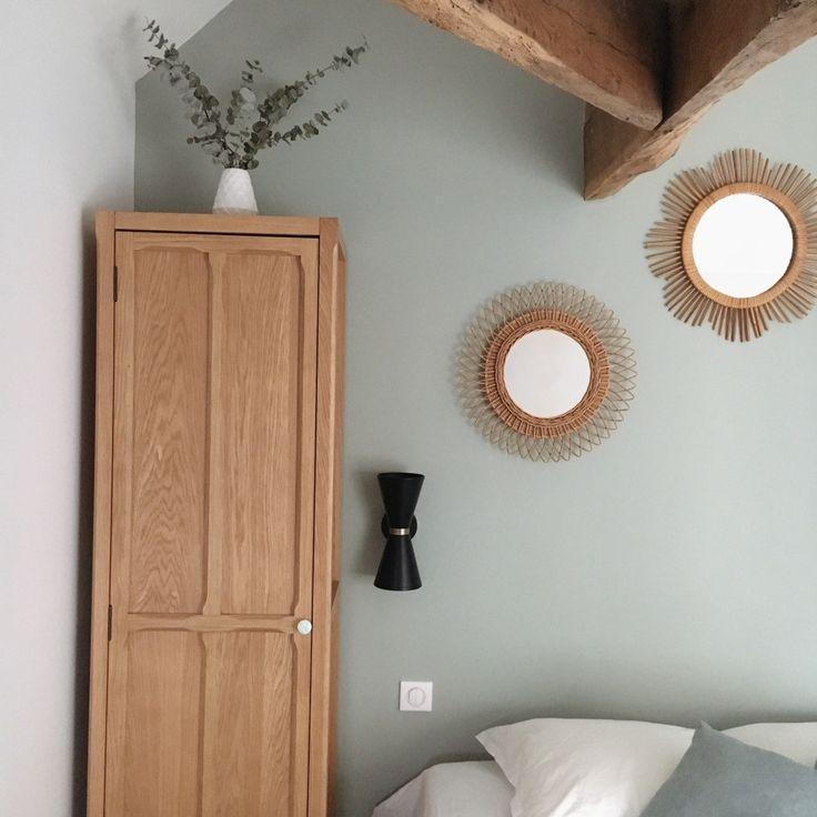 chambre vert de gris collection couture Dulux Valentine