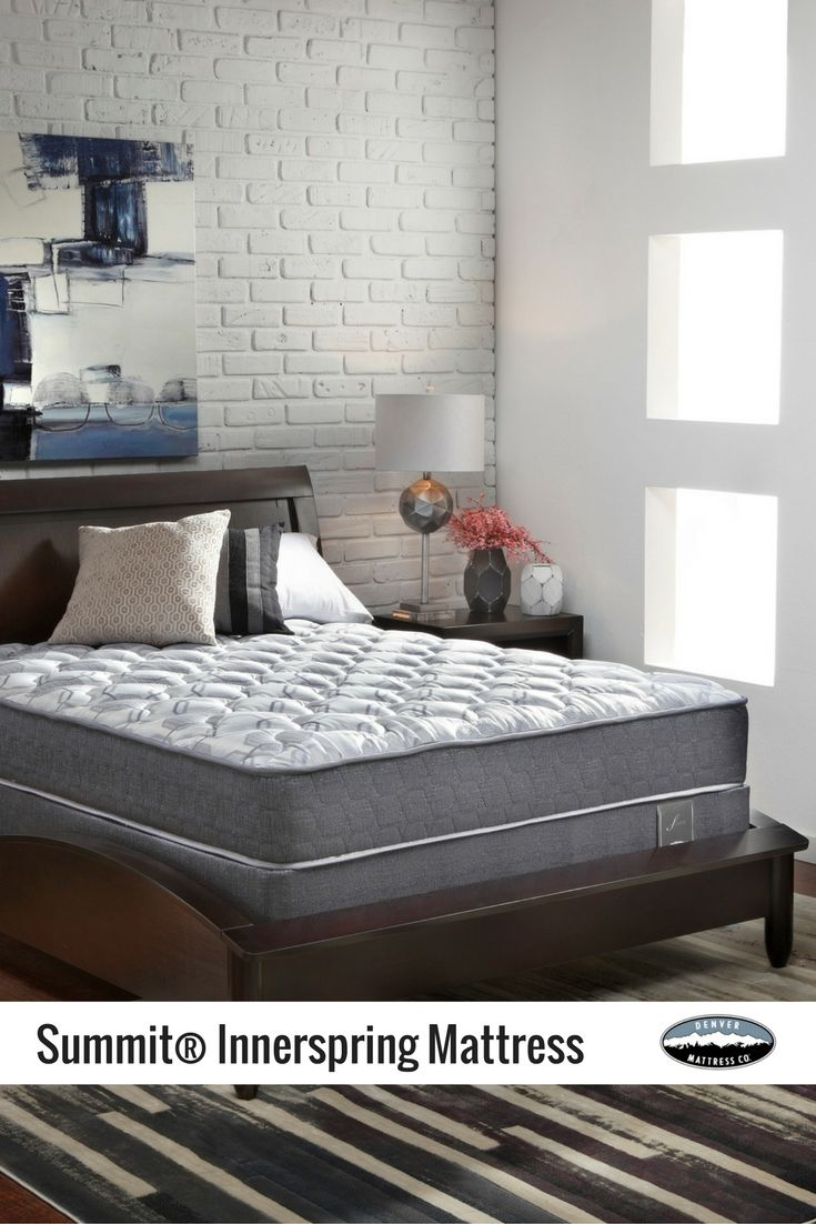 the summit mattress features a sturdy innerspring support system to keep your back in - Denver Mattress Sale