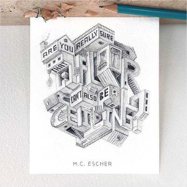 Foldaway Tote - Sketched Escher by VIDA VIDA f7HiW8PYv