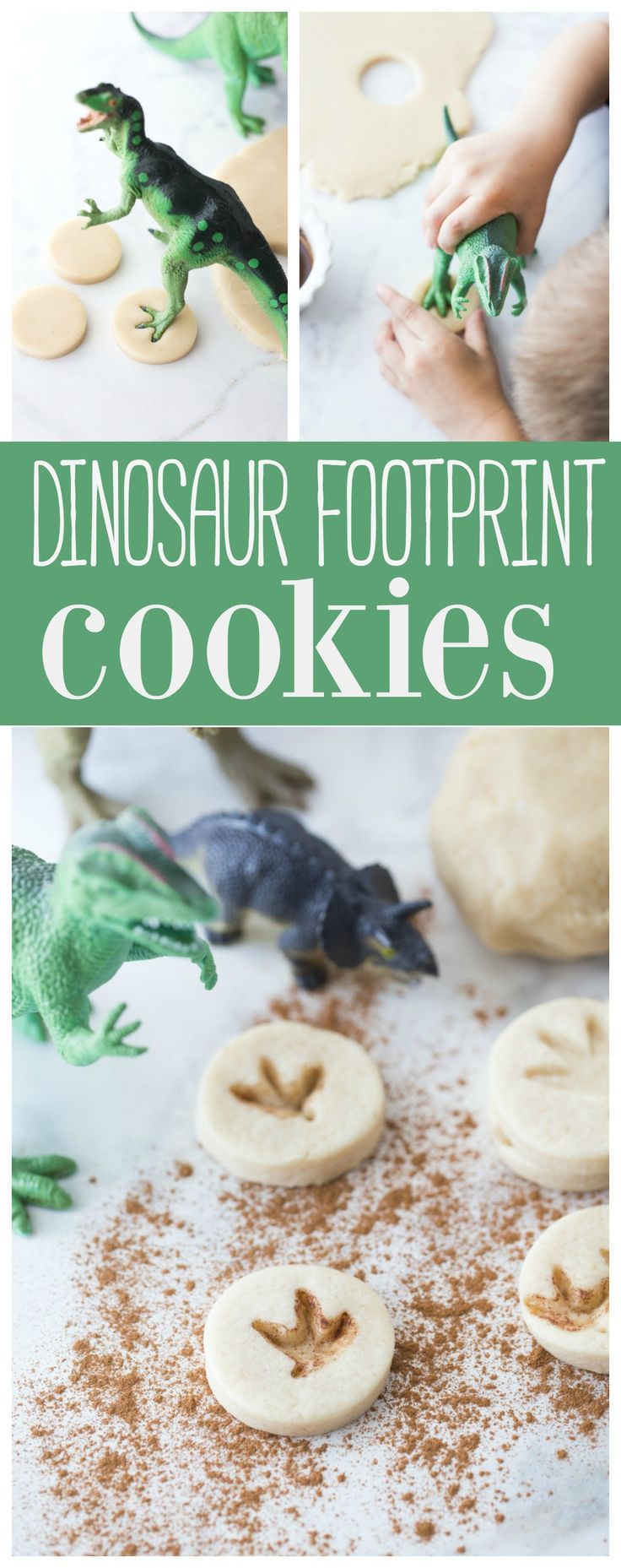 These Dinosaur Footprint Cookies are such a fun edible treat for all your little dinosaur lovers. Your kids will love pressing the Dinosaur foot into their cookies.