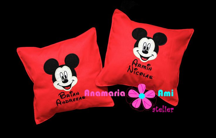 Mickey mouse perna personalizata cu nume brodata