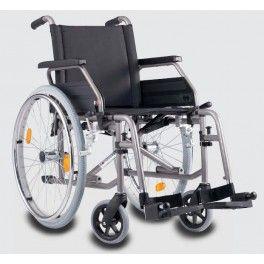 Silla de ruedas estándar S Eco2. Con un amplio equipamiento de serie y prestaciones de calidad, la S Eco2 es ideal para los que buscan una silla de ruedas manual con una excelente relación calidad-precio. Es cómoda porque  se adapta a cada usuario y muy práctica porque es una silla de ruedas plegable.