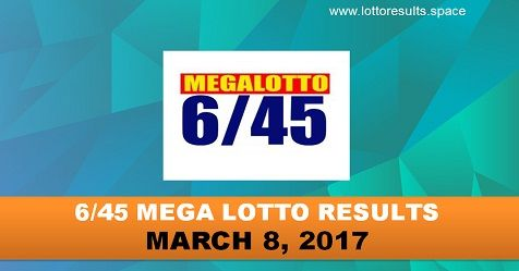 6/45 MEGA LOTTO RESULTS MARCH 8, 2017 WEDNESDAY (Good Luck )  #megalotto #lotto #results #lottery #wednesday