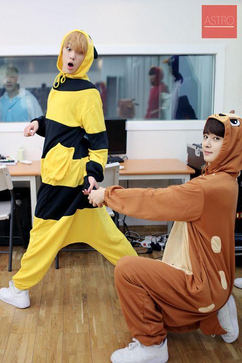 Sanha & Dongmin (PS. Eu quero um kigurumi, tô aceitando de presente até o meu niver)