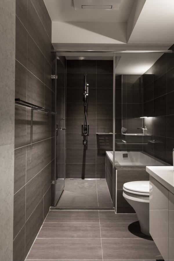 Szürke pala - fürdő / WC ötletek